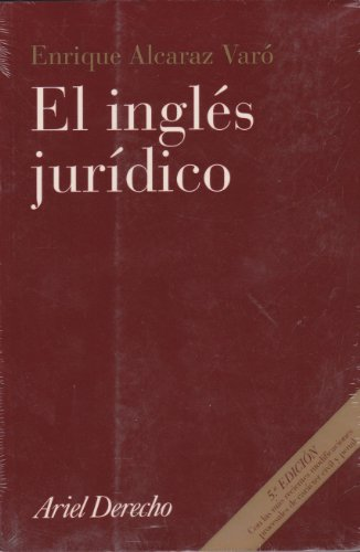 9788434432246: El Ingles Juridico (Spanish Edition)
