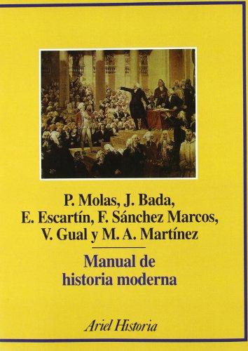 Manual de historia moderna (Ariel Historia): Joan Bada Elías;