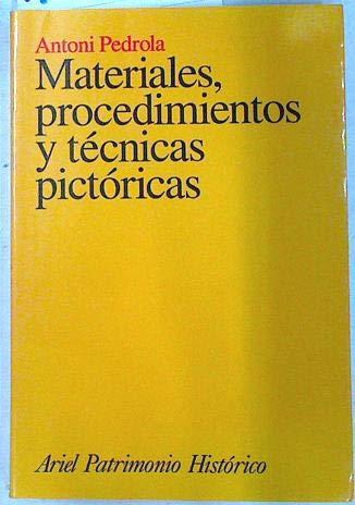 9788434466074: Materiales, procedimientos y técnicas pictóricas