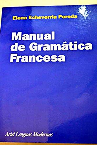 9788434481213: Manual de gramatica francesa (Lenguas Modernas)