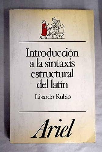 9788434483613: Introduccion a la sintaxis estructural del latin