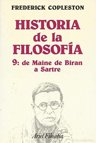 9788434487291: Historia de la filosofía, IX. De Maine de Biran aSartre (Ariel Filosofia)