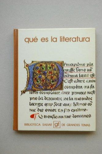 9788434574533: Qué es la literatura
