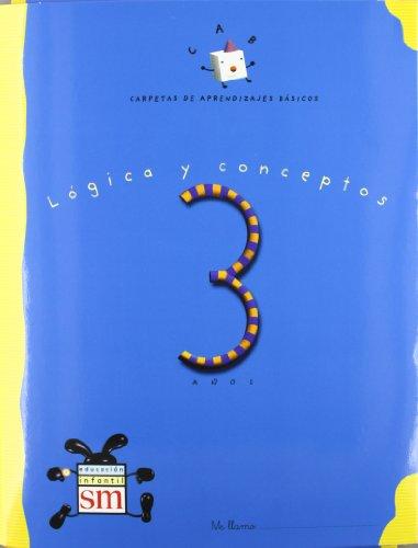 9788434863729: Carpeta de aprendizajes básicos 3 años. Lógica y conceptos.