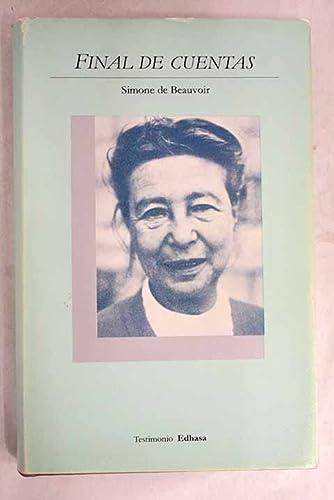 Final de Cuentas (Spanish Edition) (9788435012010) by Simone de Beauvoir