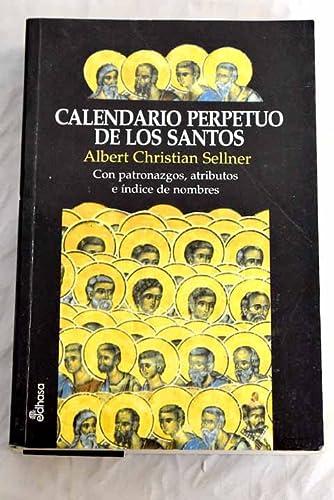 Calendario Con Santos.Calendario Perpetuo De Los Santos
