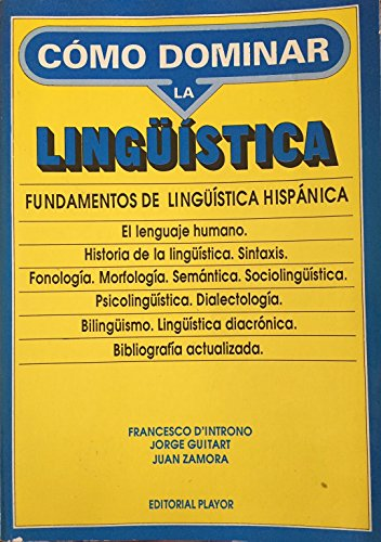 Fundamentos de Linguistica Hispanica (Spanish Language) (8435906051) by Francesco D'Introno