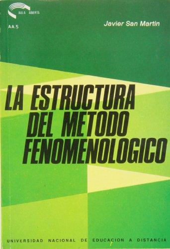 9788436219906: La estructura del método fenomenológico