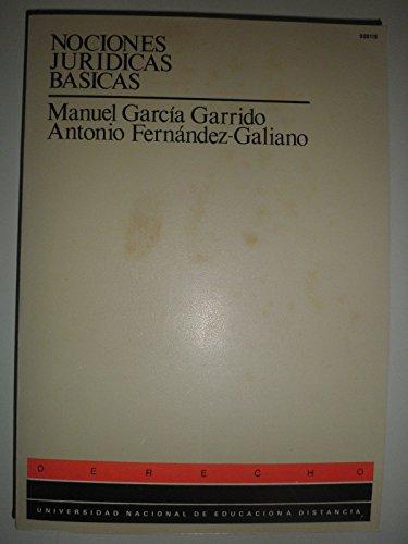 9788436220865: Nociones juridicas basicas. (u.d.)
