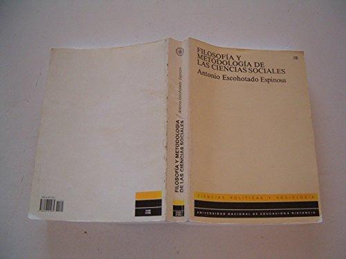 9788436221985: Filosofía y metodología de las ciencias sociales (UNIDAD DIDÁCTICA)