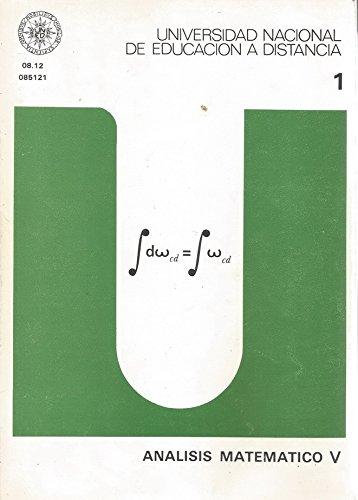 9788436223316: Análisis matemático V: 1 (UNIDAD DIDÁCTICA)