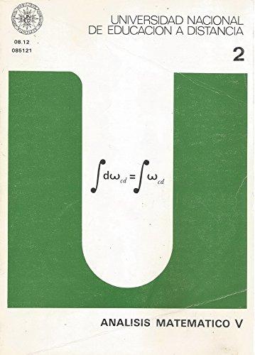 9788436223323: Análisis matemático V: 2 (UNIDAD DIDÁCTICA)