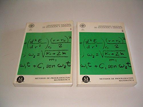 9788436224030: Métodos de Programación Matemática: 2 (UNIDAD DIDÁCTICA)