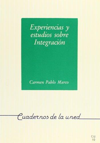 Experiencias y estudios sobre integracion.: Pablo Marco, Carmen