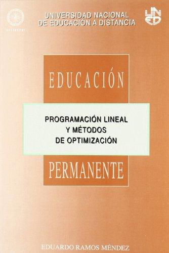 9788436229851: PROGRAMACION LINEAL Y METODOS DE OPTIMIZACION