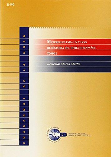 Materiales para un curso de historia del: Morán Martín, Remedios