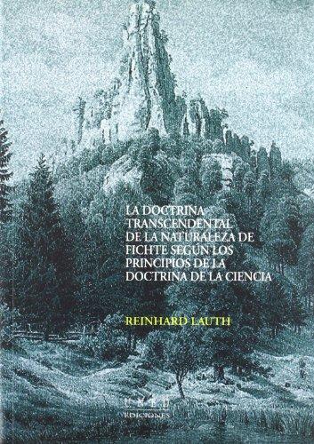 La Doctrina Transcendental De La Naturaleza De: Reinhard Lauth