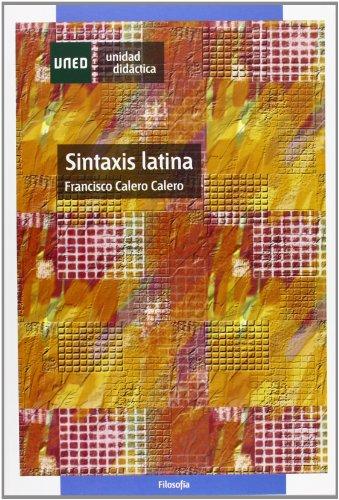 9788436249224: Sintaxis latina (UNIDAD DIDÃ CTICA)