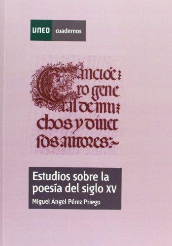 9788436250060: Estudios sobre la poesía del siglo XV