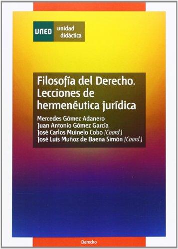 9788436253061: FILOSOFA DEL DERECHO. LECCIONES DE HERMENETICA JURDICA