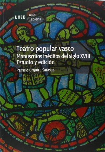 9788436254860: Teatro popular vasco. Manuscritos inéditos del s. XVIII. Estudio y edición