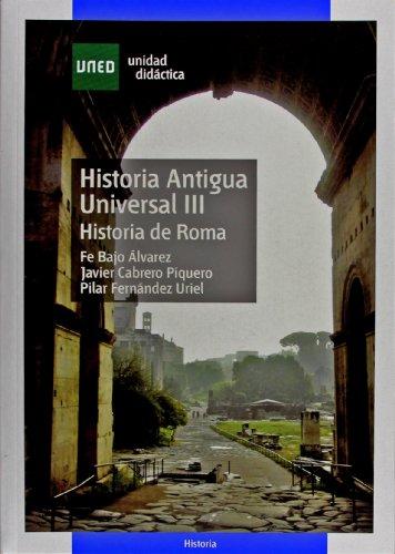 9788436255164: Historia Antigua Universal III. Historia de Roma (UNIDAD DIDÁCTICA)