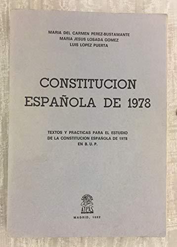 CONSTITUCIÓN ESPAÑOLA DE 1978: MARÍA DEL CARMEN