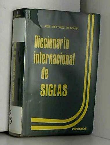 Diccionario internacional de siglas (Spanish Edition): Jose Martinez de