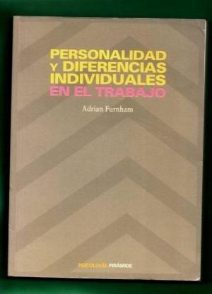 9788436808506: PERSONALIDAD Y DIFERENCIAS INDIVIDUALES EN EL TRABAJO