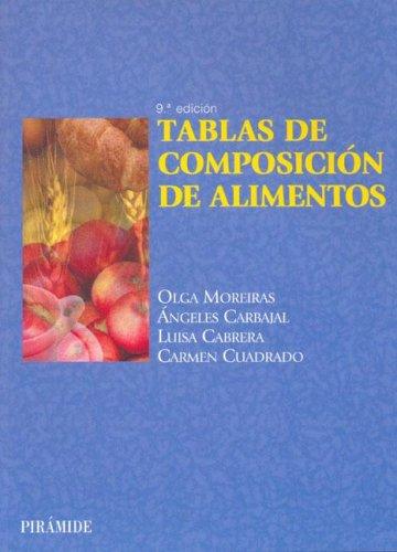 Tablas de composicion de alimentos / Food: Olga Moreiras Tuni,