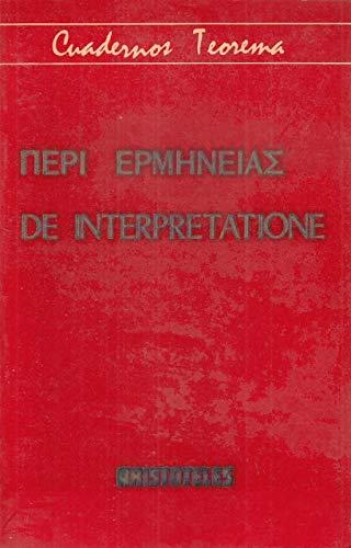 9788437000428: De interpretatione