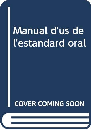 9788437053905: Manual d'us de l'estandard oral