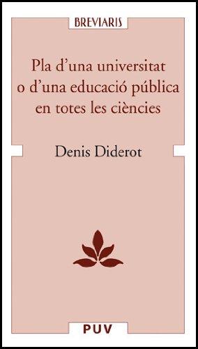 9788437060996: Pla d'una universitat o d'una educació pública en totes les ciències