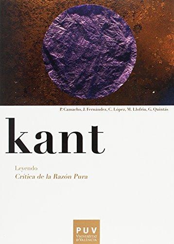 Kant : leyendo crà tica de la: Guillermo Quintas Alonso
