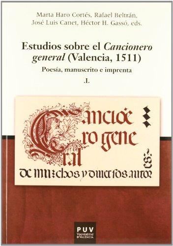 9788437088853: Estudios sobre el Cancionero general (2 vol.): (Valencia, 1511): 17 (PARNASEO)