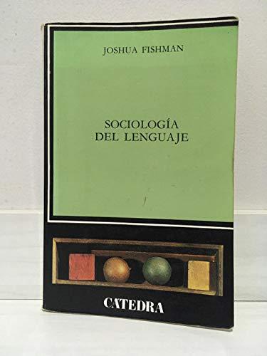 9788437601878: Sociologia del lenguaje