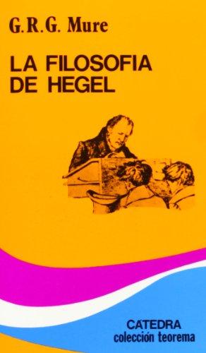 9788437604435: La filosofía de Hegel (Teorema. Serie Menor)