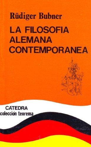 9788437604688: Filosofia alemana contemporanea, la (Teorema Menor (catedra))