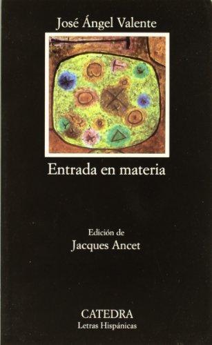 9788437605241: Entrada en materia / Entry in Matter (Letras Hispánicas) (Spanish Edition)