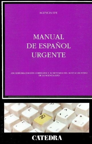 Manual de Espanol Urgente (Critica y Estudios: Efe Agencia