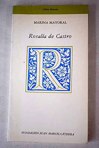 9788437605906: Rosalía de Castro (Crítica literaria) (Spanish Edition)