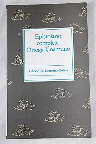 9788437607191: Epistolario completo Ortega-Unamuno (Obras de Ortega) (Spanish Edition)