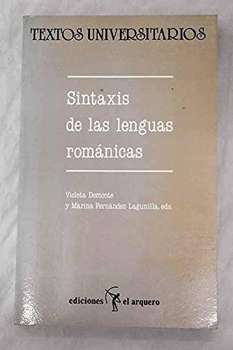 Sintaxis de las lenguas romanicas (Textos universitarios) (Spanish Edition): n/a