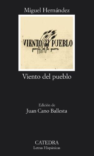 9788437608532: Viento del pueblo: poesía en la guerra (Letras Hispánicas)