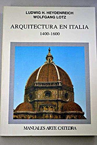 9788437610221: Arquitectura en Italia : 1400-1600