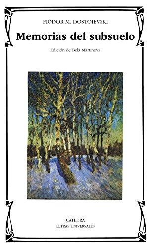 9788437620329: Memorias del subsuelo (Letras Universales/ Universal Writings) (Spanish Edition)