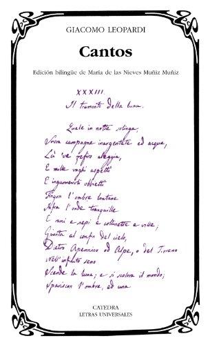 9788437626239: Cantos (Letras Universales)