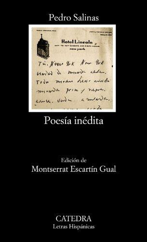 9788437630977: Poesía inédita (Letras Hispánicas)