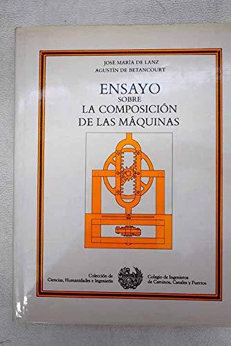 Ensayo sobre la composición de las máquinas: Agustín de Betancourt