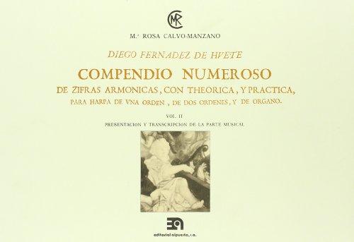 9788438101735: Compendio numeroso de cifras arm�nicas, vol. II. Diego Fern�ndez Hue